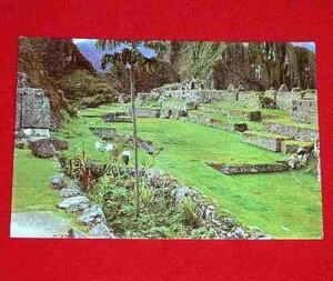 Antigua Postal Ruinas Machu Picchu Cusco Perú 1976 En Color
