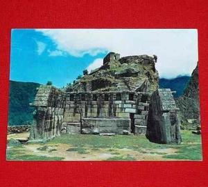 Antigua Postal Templo Principal Machu Picchu 1980 Corbacho