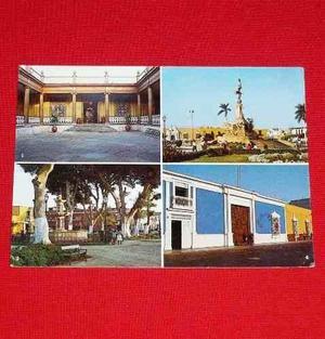 Antigua Postal Trujillo 1987 Plaza De Armas Calle Pizarro