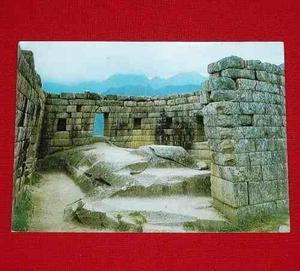 Antigua Postal Vista Interior Del Torreón Machu Picchu 1987