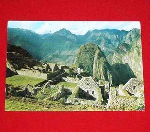 Antigua Postal Vista Ruinas De Machu Picchu 1978 Perú Cusco