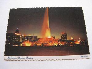 Burun Danga: Antigua Postal + Estampilla Chicago P1-b2 Ppl