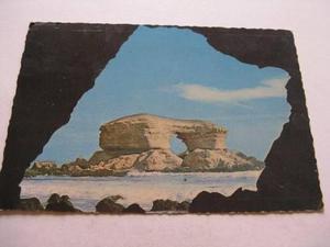 Burun Danga: Antigua Postal + Estampilla Chile P1-b2 Ppl
