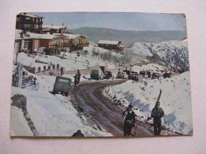 Burun Danga: Antigua Postal + Estampilla Sky Chile P1-b2 Ppl