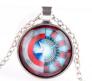 Collar Civil War Iron Man Capitán América Marvel Comics