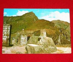 Postal Antigua 1972 Machu Picchu Intihuatana Observatorio