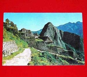 Postal Antigua Machu Picchu 1977 Entrada A Ruinas Cusco