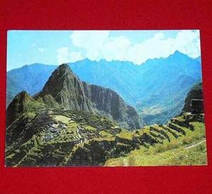 Postal Antigua Machu Picchu 1979 Corbacho Ciudadela Incas