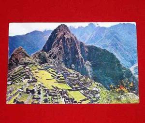 Postal Antigua Machu Picchu Ciudadela Granito 1974 Corbacho