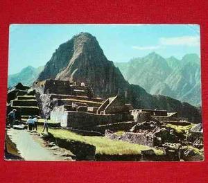 Postal Antigua Machu Picchu Huayna Picchu 1967 Swiss Foto