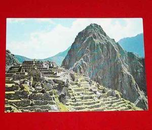 Postal Antigua Machu Picchu Huayna Picchu 1971 Swiss Foto