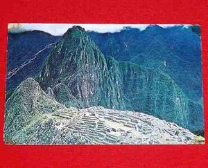 Postal Antigua Machu Picchu Perú Plastichrome Julio