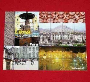 Postal Lima Centro Histórico Perú Alvarado Plaza De Armas