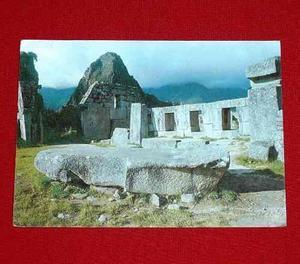 Postal Machu Picchu Templo 3 Ventanas Cusco Foto Eismann