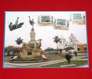 Postal Plaza De Armas Monumento Libertad Trujillo Ghassemi