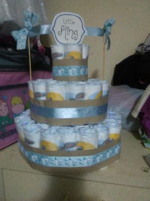 Torta de Pañales para Niño