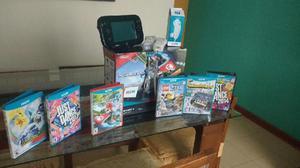 Wii U 32g, 6 Juegos, 3 Mandos Y Nunchuk