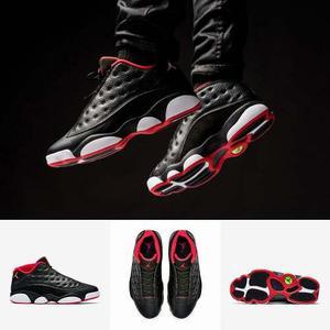 Zapatillas Nike Air Jordan 13 Retro Low | Negras Black 100%