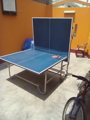 vendo mesa de ping pong casi nueva posot class