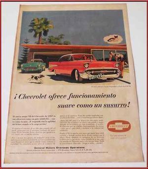 Dante42 Publicidad Antigua Re Auto Clasico Chevrolet V8 1957