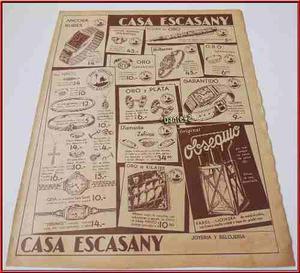 Dante42 Publicidad Antigua Retro Joyas Joyeria 1938