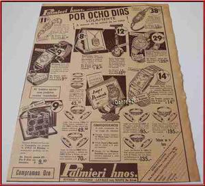 Dante42 Publicidad Antigua Retro Joyas Joyeria 1939