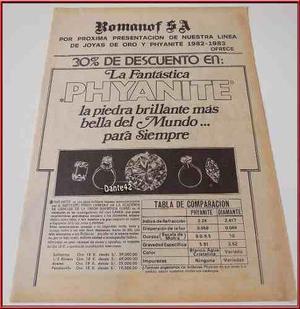 Dante42 Publicidad Antigua Retro Joyas Joyeria 1982