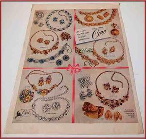 Dante42 Publicidad Antigua Retro Joyas Joyeria Coro 1955