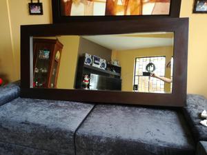 Espejo decorativo nuevo madera para sala comedor posot class for Espejos biselados para sala