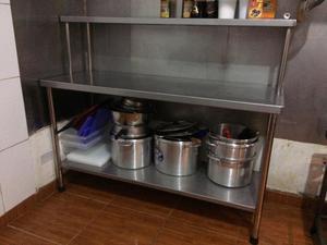 Mesa de trabajo en acero inoxidable posot class - Mesas de trabajo para cocina ...