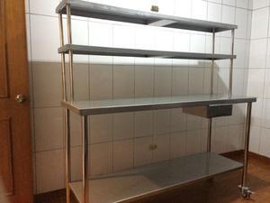 Mesa de trabajo cocina acero quirurgico posot class - Mesa de trabajo cocina ...