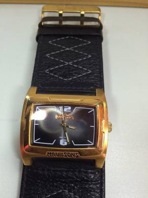 Reloj Maui & Sons Caja De Acero Correa De Cuero