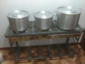 Cocina industrial con ollas posot class for Ollas para cocina industrial