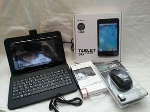 Tablet 7 Teclado, Hands Freee, Teclado Y Mouse Inalambrico