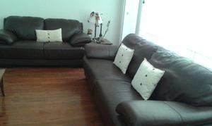 Muebles de cuero color marron posot class for Muebles de sala de cuero