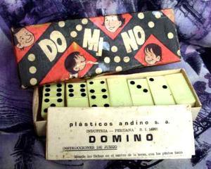 Antiguo Juego De Domino - Completo