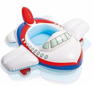 Bote Flotador Avion Inflable Bebes Niños Playa Piscina