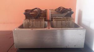 Freidora Electrica - De 2 Pozas - Capac. 3 Kgs C/u - Usada