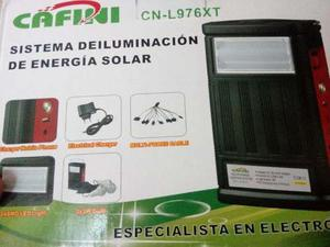 Kit De Iluminacion Solar Portatil Con 3 Focos Led, Linterna