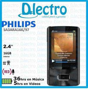 Mp4 Philips 16gb Gogear Ariaz Altavoz Radio Fm Grabacion Voz