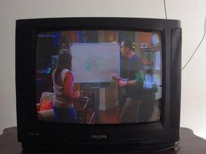 Tv Phillips De 21 Pulgadas En Funcionamiento + Control Remot