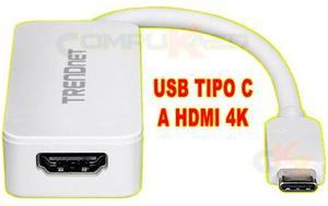 Adaptador De Usb 3.0 Tipo C A Hdmi 4k Uhd Trendnet Tuc-hdmi