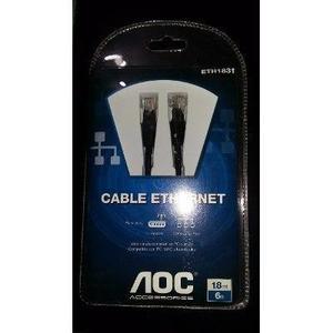Cable Ethernet Aoc 1.8m Red Pc/mac/portatil Cat5e Lan Rj45