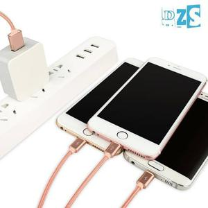 Cable Lightning Doble Y Micro Usb Iphone 6s Plus Ipad