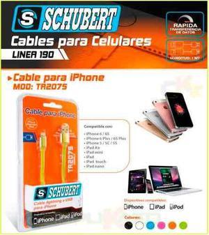 Cable Usb Lightning Para Iphone 5 5s 5c 6 6 Plus Schubert 1m
