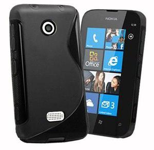 Funda Estuche Silicon Gel Tpu Nokia Lumia 510 S_line + Mica