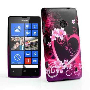 Pedido Case Estuche Protector Flores Lumia 520+mica Pantall