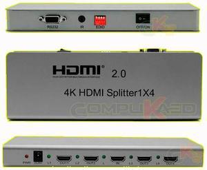 Splitter Hdmi 2.0 De 1x4 Aluminio Ultra Full Hd 3d 4k 1 X 4