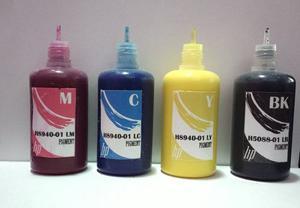 Tinta Pigmentada Especifica Para Hp  Colores)
