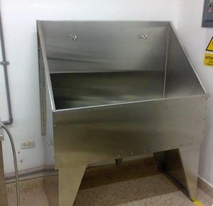 Bañera De Acero Quirúrgico Para Veterinaria Peluquería